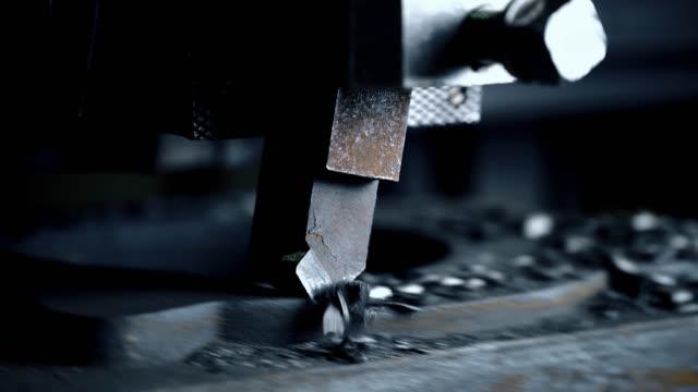 生産工場の視野で加工加工工作機械 ビデオ