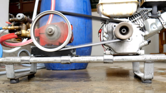 Working motor for mixing chemical of insecticide in blue gallon video