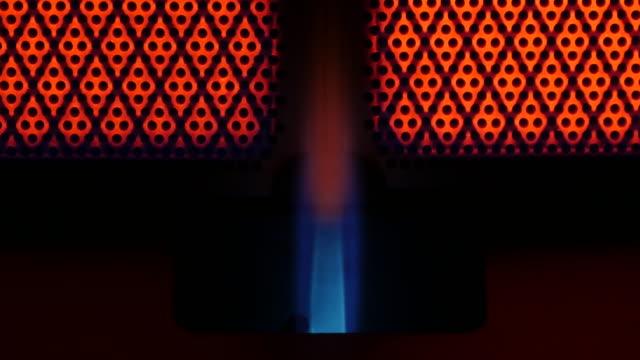 gaz ısıtıcı sıcak için çalışma - taşınabilirlik stok videoları ve detay görüntü çekimi