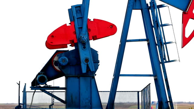 Working oil pump jacks video