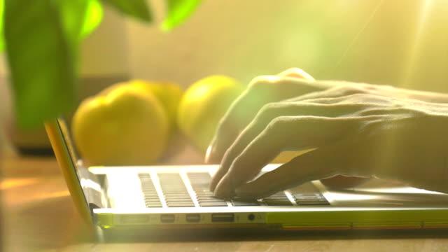 arbeiten auf einem laptop - online dating stock-videos und b-roll-filmmaterial