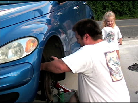 Working on the car with Daddy video