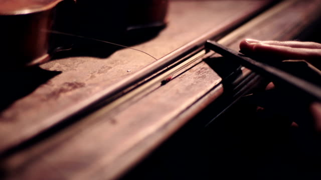 Working on Violin video