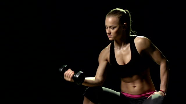 Working out with Dumbbells video