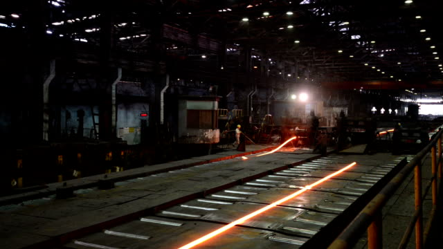 working steel rolling factory interior, real time. working steel rolling factory interior, real time. foundry stock videos & royalty-free footage