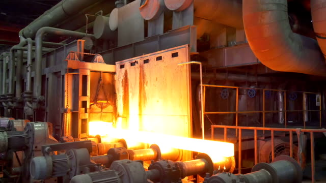 working steel rolling factory interior, real time. working steel rolling factory interior, real time. iron metal stock videos & royalty-free footage