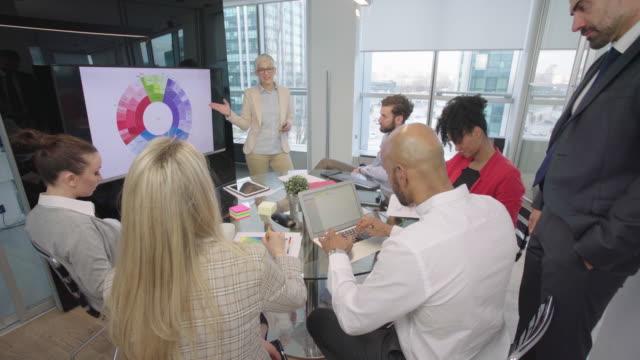 arbeta tillsammans på kontoret - formella kontorskläder bildbanksvideor och videomaterial från bakom kulisserna