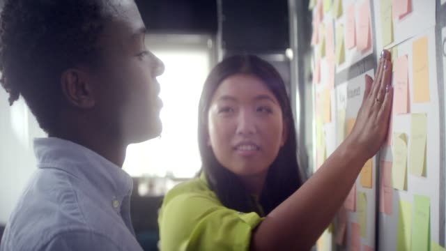 Working together gives better results. Startup company team Young asian woman explaining business strategy to her colleague genius stock videos & royalty-free footage