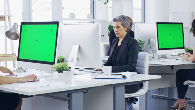 Working towards a common goal 4k video footage of businesspeople working on their computers in a modern office representing stock videos & royalty-free footage