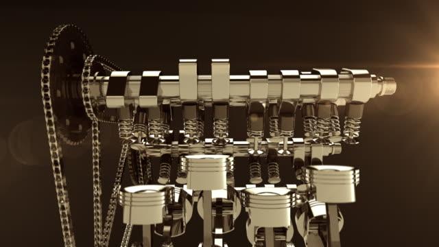 animacja 3d v8 pracy silnika - silnik filmów i materiałów b-roll