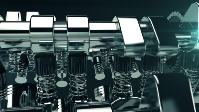 Working V8 Engine 3D Animation