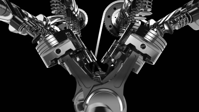 Working V8 Engine 3D Animation Computer generated 3D V8 engine animations. construction machinery stock videos & royalty-free footage