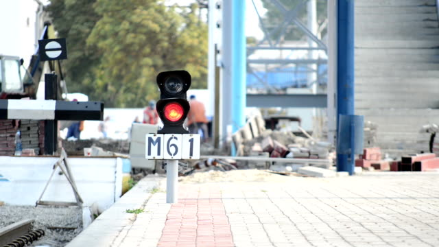 Workovers on the railway station video
