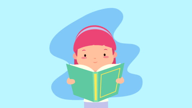 world book day celebration with little girl reading video