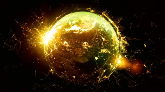 världen som förbinder. - earth from space bildbanksvideor och videomaterial från bakom kulisserna