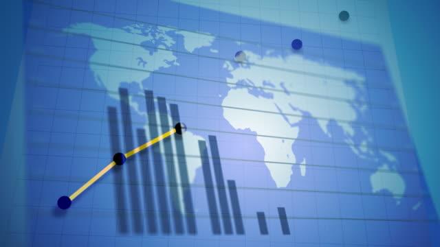 World Economy and Stock Market Graphics video