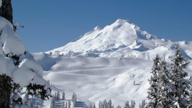 世界的に有名なマウントベイカースキーとスノーボードバックカントリー ビデオ