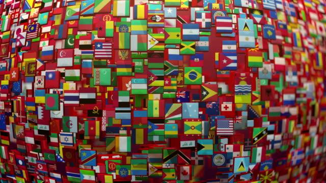 world flags - bandiera nazionale video stock e b–roll