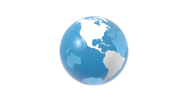 World Globe, Earth 3D with Borders, 4K Loop Animation 3D rendered Earth, world globe with current political borders. Isolated background. Alpha channel will be included when downloading the 4K Apple ProRes 4444 file only. Surface texture is hand drawn referred to NASA https://visibleearth.nasa.gov/ country geographic area stock videos & royalty-free footage