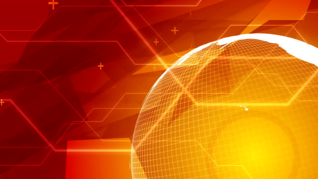 World Globe Red/White Variant HD-Seamless Loop video