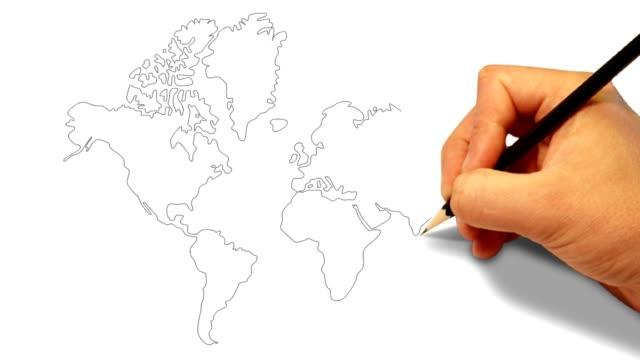 World Globe Sketch video