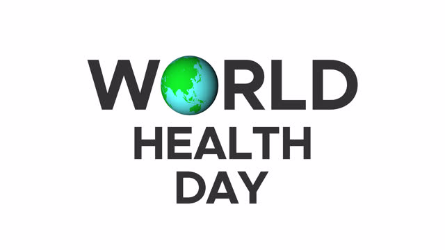World Health Day Animated Text with Rotating Earth Planet World Health Day Animated Text with Rotating Earth Planet Isolated on White Background world health day stock videos & royalty-free footage