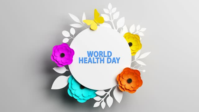 World Health Day Concept With Flowers And Text World Health Day, Concept, Background world health day stock videos & royalty-free footage