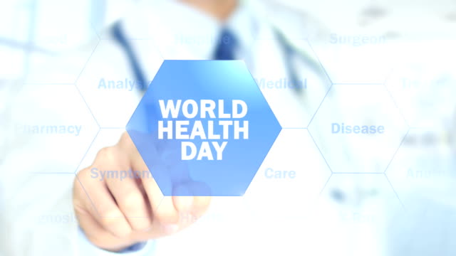 World Health Day , Doctor working on holographic interface, Motion Graphics World Health Day , Doctor working on holographic interface, Motion Graphics world health day stock videos & royalty-free footage