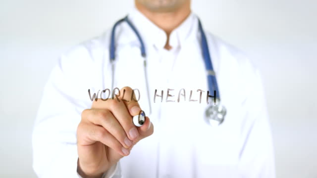 World Health Day , Doctor Writing on Glass World Health Day , Doctor Writing on Glass world health day stock videos & royalty-free footage