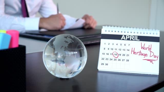 world heritage day - speciella dagar - calendar workout bildbanksvideor och videomaterial från bakom kulisserna