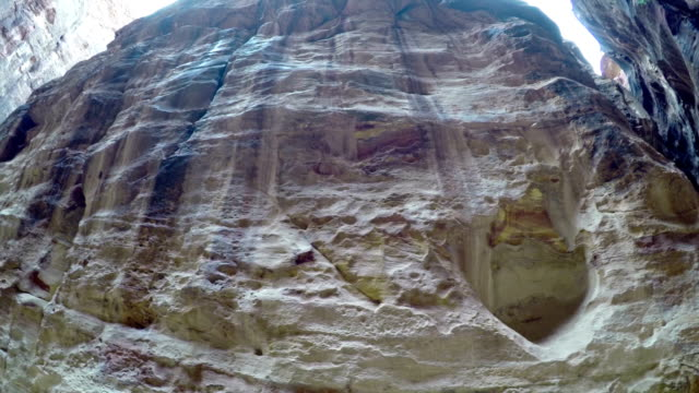 UNESCO world heritage site and one of The New 7 Wonders of the World.Beautiful red rock formation in Petra Jordan video