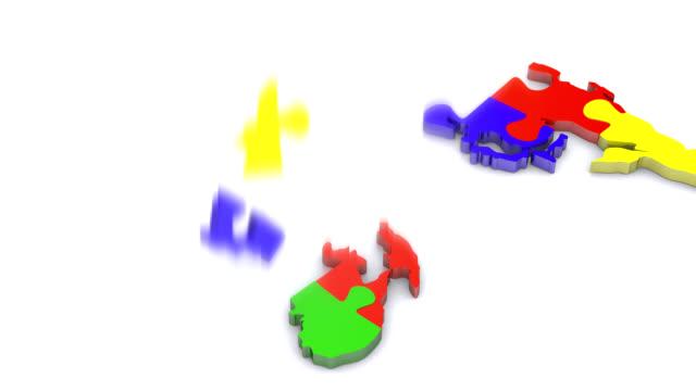 World jigsaw video