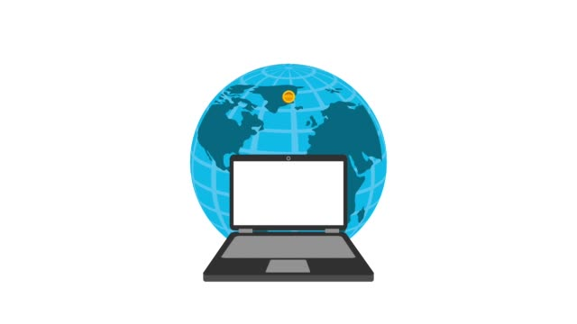world laptop coin money business