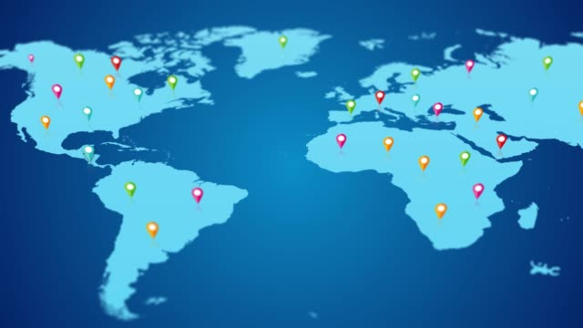 4K World map and Location World map location famous place stock videos & royalty-free footage