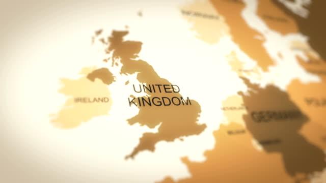4K World Map Animation (United Kingdom)