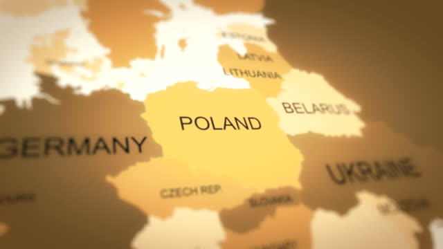 4K World Map Animation (Poland) 4K World Map Animation (Poland) eastern europe stock videos & royalty-free footage
