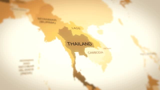 vídeos y material grabado en eventos de stock de animación de mapas mundiales 4k (tailandia) - tailandia
