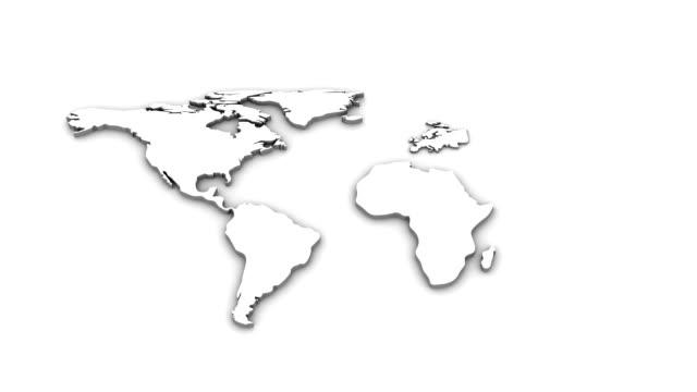 World Map Animation video