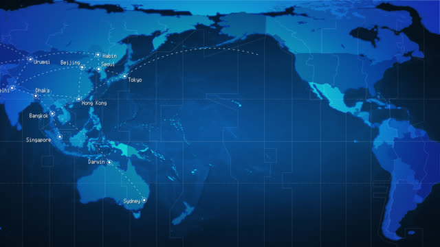 Royalty free world map hd video 4k stock footage b roll istock world map connections and cities loopable blue video gumiabroncs Image collections