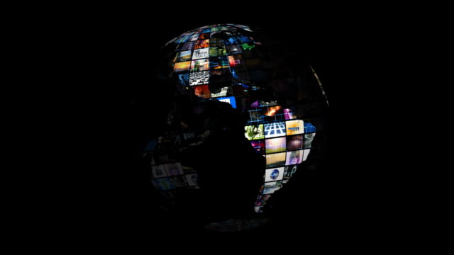 World Map - Earth Video Sphere video