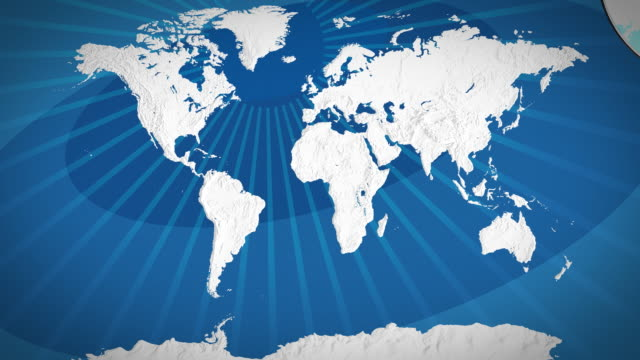 World map - focus on Africa video
