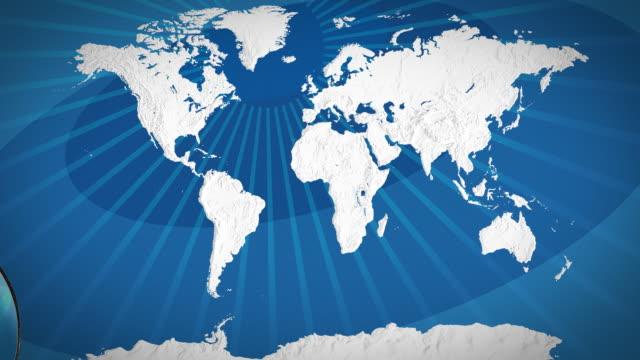 world map - focus on asia - 亞洲中部 個影片檔及 b 捲影像
