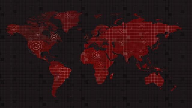 vidéos et rushes de contexte complet de la carte du monde 4k - nord