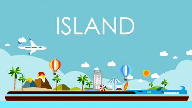 World map, Island travel. Beach Tour, , illustration animation, vacation. World map, Island travel. Beach Tour, , illustration animation, vacation. summer illustrations videos stock videos & royalty-free footage