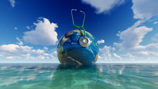 World Map On Sea For World Medicine Day World Health Day, Day, Healthcare And Medicine, Medicine, Healthy Lifestyle world health day stock videos & royalty-free footage