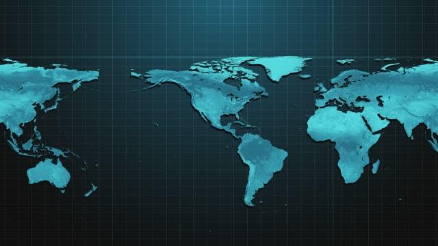 weltkarte. - stock footage australien, afrika, amerika, asien, geographische lage - kartographie stock-videos und b-roll-filmmaterial