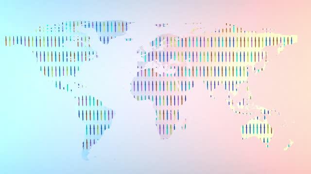 vídeos y material grabado en eventos de stock de vacunas del mapa mundial, desarrollo mundial de la vacunación - covid 19 vaccine