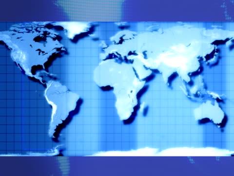 세계지도 (ntsc/pal - 클립 길이 스톡 비디오 및 b-롤 화면