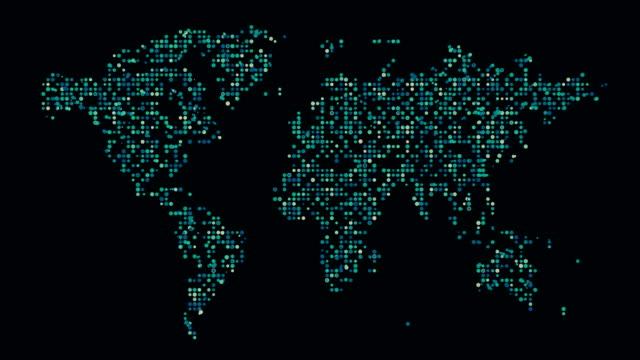 världs karta - platt bildbanksvideor och videomaterial från bakom kulisserna