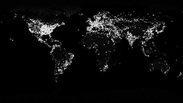 vídeos de stock e filmes b-roll de world map - circular economy